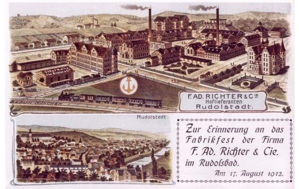 1912 factory plan postcard