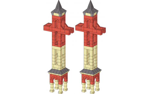 Two observation towers
