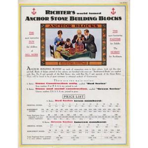 Anchor Stone 1922 US pricelist