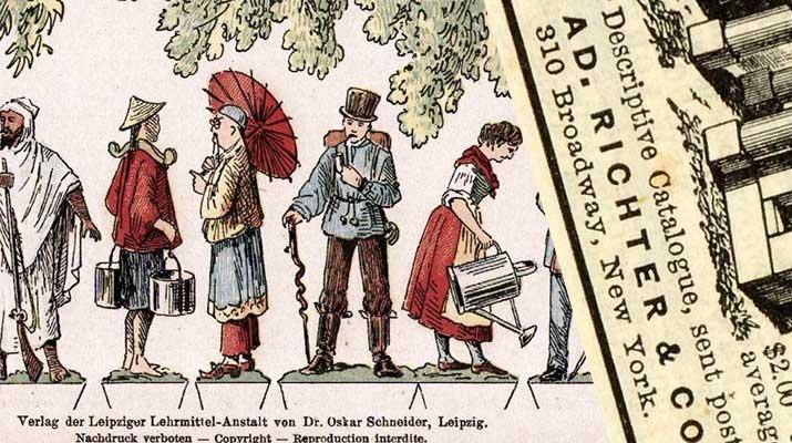Memorabilia from the long history of Anker Steinbaukasten