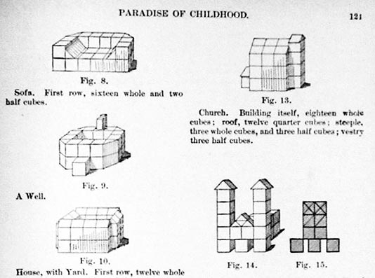 Froebel blocks in the Paradise of Childhood publication