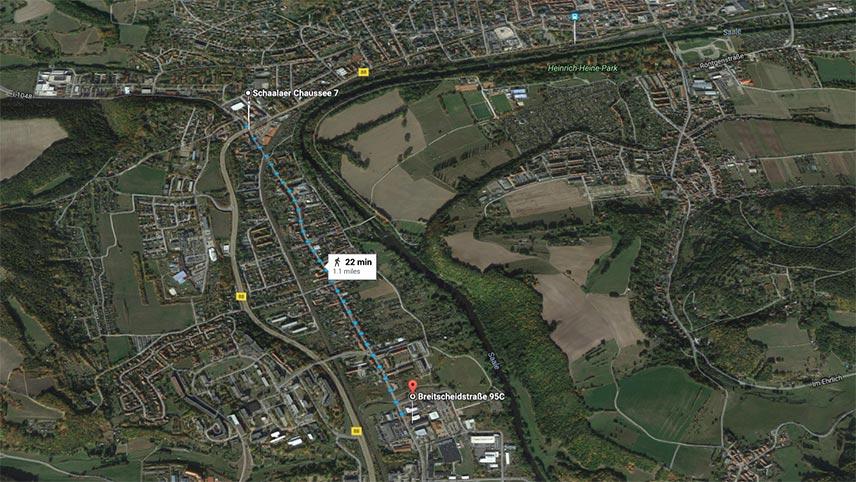 Rudolstadt factories map