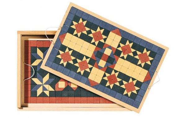 Mosaic floor tile stone set
