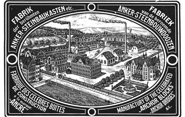 1906 factory plan print