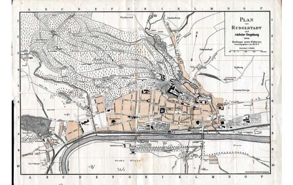 1909 Rudolstadt map