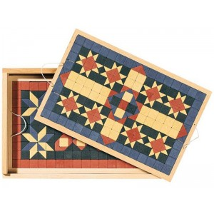 Mosaic floor tile stone set