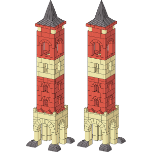 Two city towers