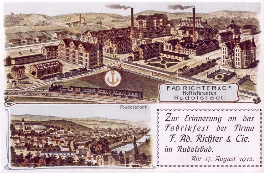 1912 postcard shows Ankerstein campus