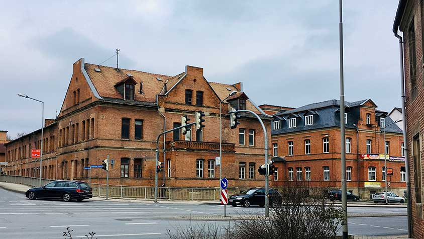 Anker factory buildings on the North side of 88